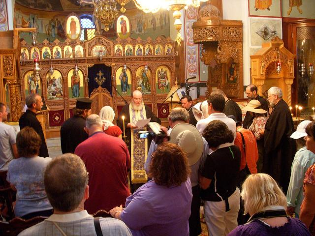 Blessing the Marriages at the Church of St. George in Cana