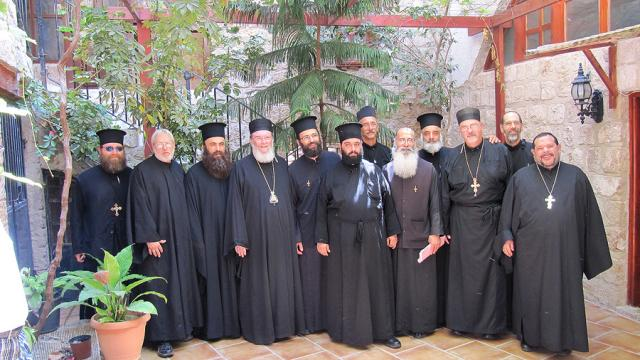 Our Clergy Pilgrims with the Clergy of Akko, Haifa and Ramla