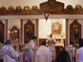 His Grace celebrates the Hierarchical Divine Liturgy
