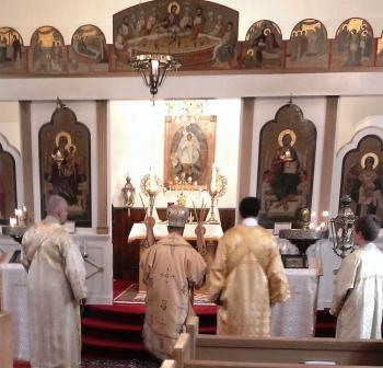 His Grace, Bishop Thomas serving Hierarchial Divine Liturgy at St. Nicholas Antiochian Church, Beckley, WV