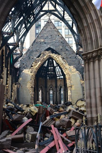 St. Sava Cathedral after fire, May 2016