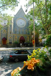 The Brooklyn Cathedral on a beautiful spring day