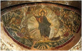 Christ Sits on Rays of Gold, Latomou Monastery