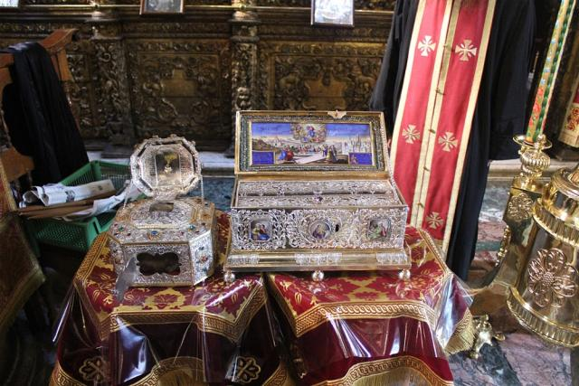 Relic of St. John Chrysostom and Belt of the Theotokos