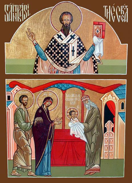 A double icon St. Basil the Great and the Circumcision of our Lord
