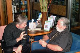 15: Fr. Alban Waggener and Fr. Gregory Mathewes-Green sharing a thought