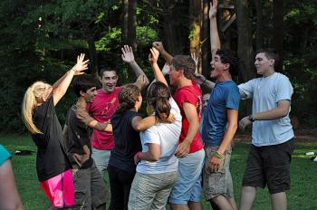 CrossRoad particpants join in some teambuilding activities at Project Adventure in Beverly, MA