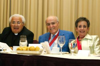 His Grace Bishop Antoun with Dr. and Mrs. George Farha