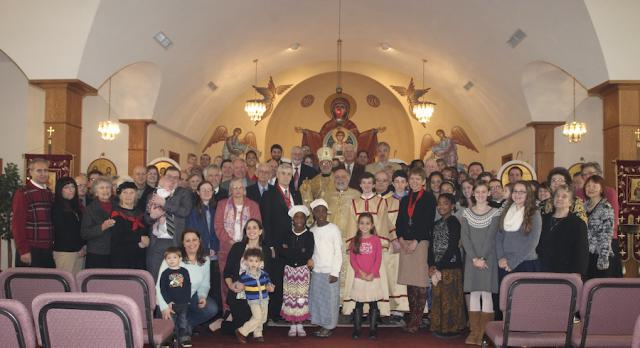 The congregation of St. Mary in Chambersburg, PA, with Bp. Thomas, Nov. 2013