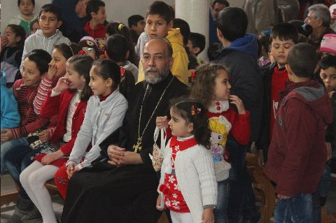 Children's Christmas Pageant at the Church of the Annunciation in Dara'a, Syria