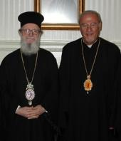 Archbishop Demetrios and Metropolitan Philip in 2004