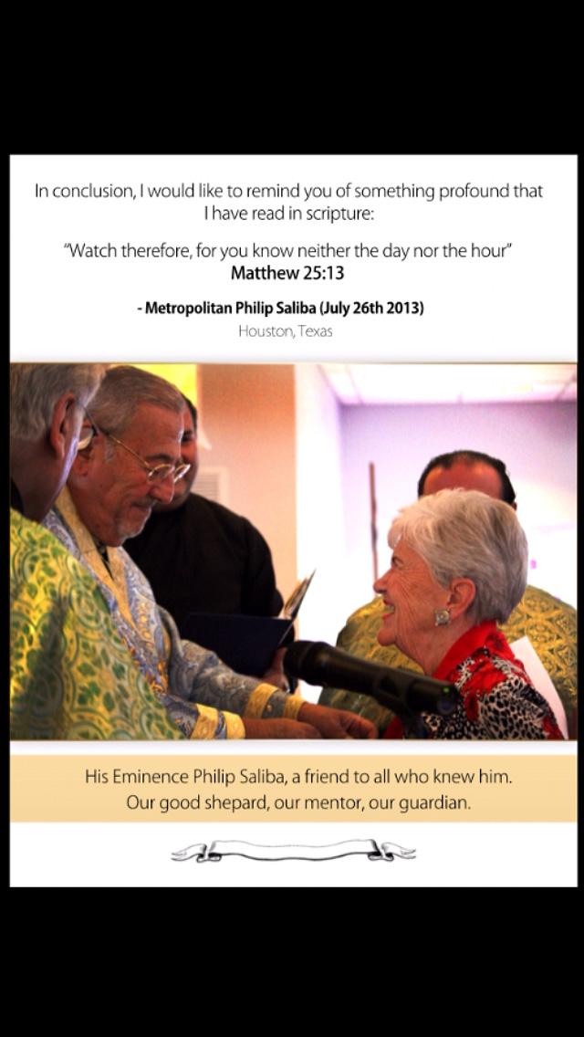 A Tribute to Metropolitan Philip by Douglas Hamatie, pg. 4