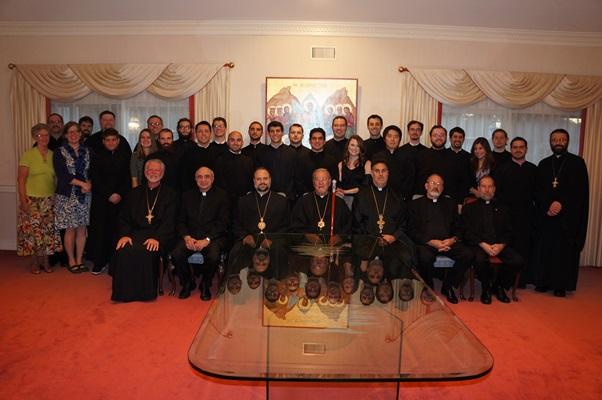 Seminarian dinner, Archdiocese headquarters, Sept. 2013