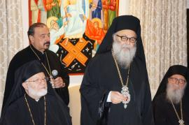 July 28, 2015: His Eminence Metropolitan Joseph hosts a dinner in Honor of His Beatitude Patriarch John X