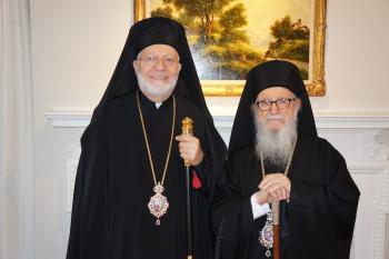 Metropolitan Joseph Hosts Archbishop Demetrios, Jan. 11, 2016
