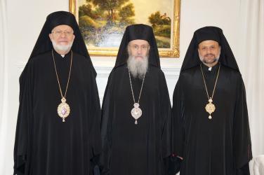 L to R: Metropolitan Joseph, Metropolitan Hierotheos, Bishop Nicholas