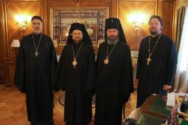 L to R: Archpriest Thomas Zain, Bishop Nicholas, Archbishop Justinian, Archpriest Georgy Roschin