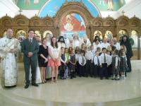 Children of Christ the Savior Academy with Met. Silouan