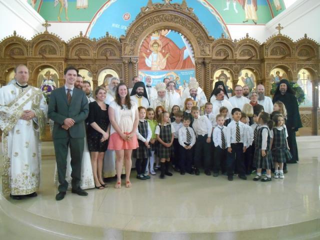 Children of Christ the Savior Academy with Met. Silouan