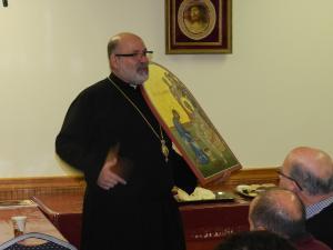 Bishop John at parish council seminar
