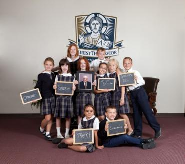 Students from Christ the Savior Academy
