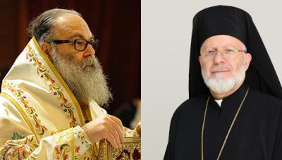 Patriarch John X (left) and Metropolitan Joseph