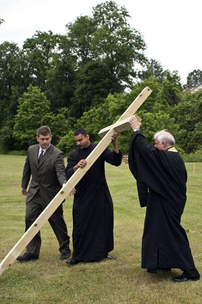 Erecting The Cross