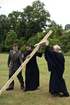 Erecting The Cross
