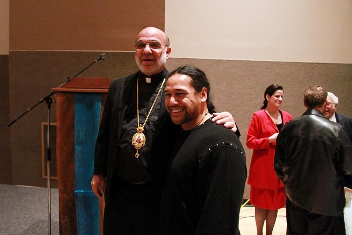 Bishop Thomas and Troy Polamalu