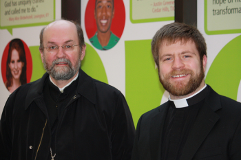Fr. Chad Hatfield and Fr. Lucas Rice of St. Vladimir's Seminary, at the Festival of Preachers 2010