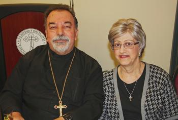 Fr. Elias and Khouria Joanne Bitar, honored at the Thanksgiving Dinner.