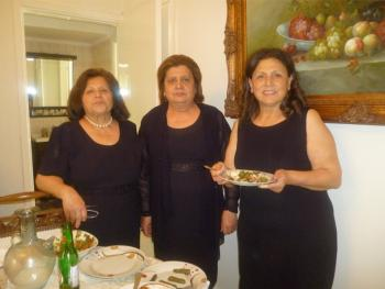 Our Main Hostess Jacqueline, on right, with her gracious relatives who served us so well