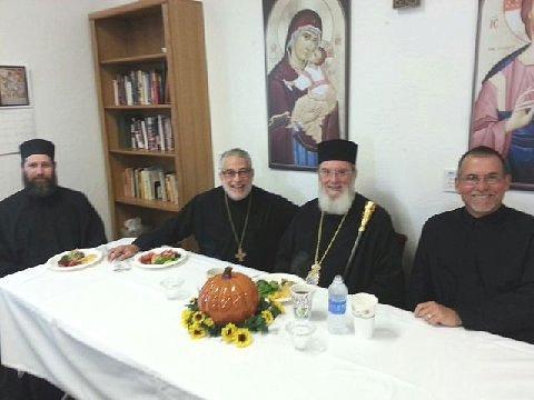 Hierodeacon Benedict, Fr. John Flora, Bishop Basil, Dn. Basil Anderson