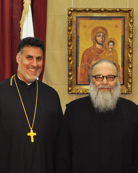 Fr. Thomas Zain and His Beatitude Patriarch John X