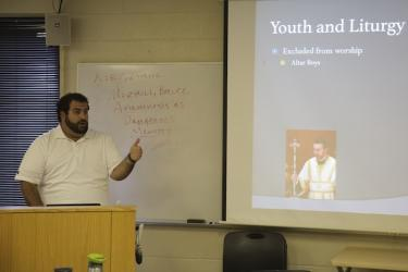 Gregory Abdalah of St. George Antiochian Orthodox Church in Phoenix, shares his experiences with fellow D.Min. students