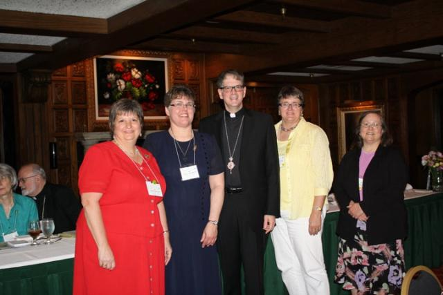 Midwest Antiochian Women Officers and Bp. Anthony (not present: Treasurer Barbara Thomas)