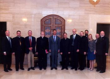 Antiochian Delegation with President Assad of Syria, September 2011