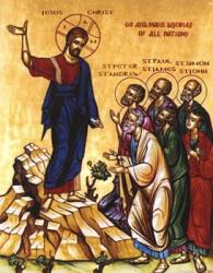 Christ commissioning the Apostles and their successors