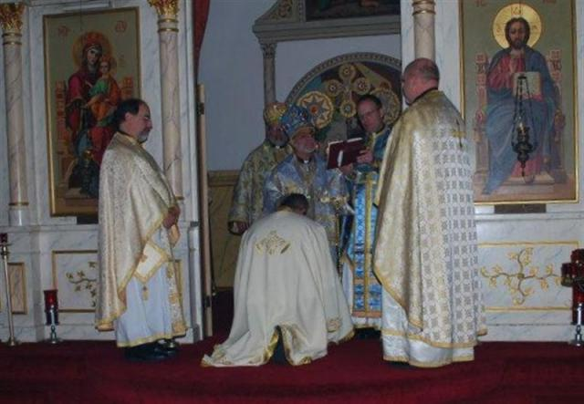 Hierarchical Liturgy and Fr. Meletios elevation