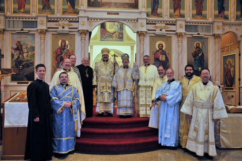 Participants in Hierarchical Liturgy, St. George 100th Anniversary