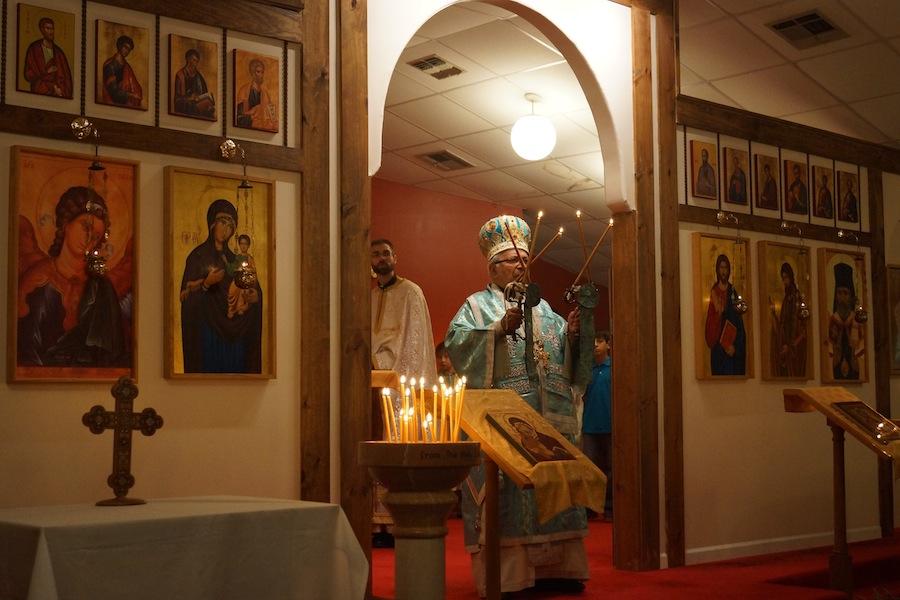 Bp. Antoun, Hierarchical Liturgy, Archangel Gabriel Orthodox Church, Lafayette, LA