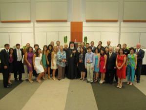 Bishop Basil with St. Nicholas Parishioners, DOWAMA PLC, 2011