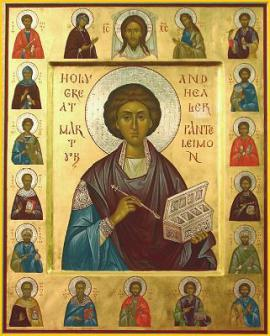 St. Panteleimon and the Holy Unmercenary Healers