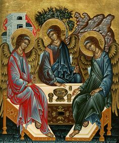 The Hospitality of Abraham icon depicts unity, and the welcoming of strangers