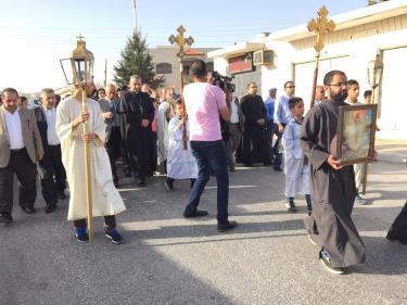 Christians in Taybeh, Palestine celebrate the religious Tradition of the Holy Fire. (Photo c/o Maria C. Khoury)