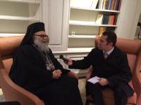 Subdeacon Peter Samore, interviewing Patriarch John X