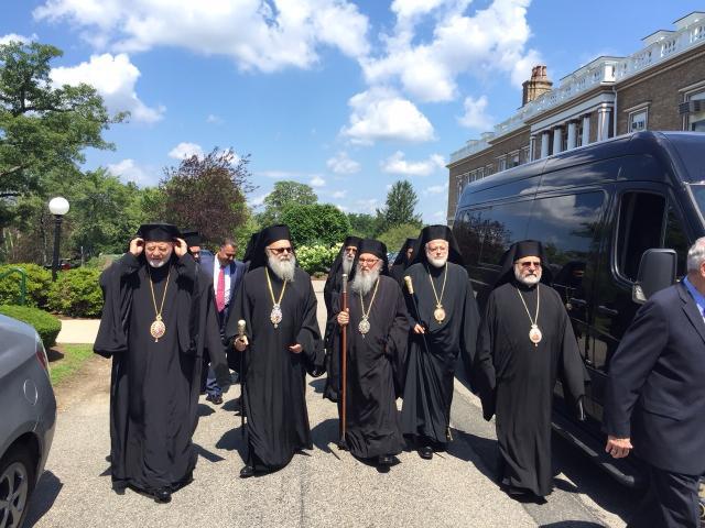 July 20, 2015: Patriarch John X visits Holy Cross Greek Orthodox School of Theology