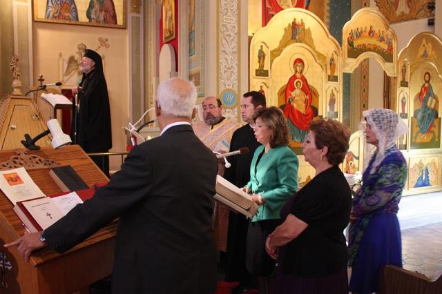 Choir at the Divine Liturgy at St. Nicholas Cathedral, Sunday, October 25, 2015