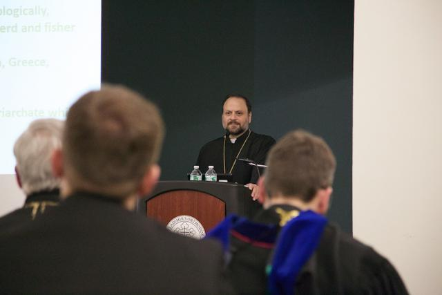 Bishop Nicholas offers the Schmemann Lecture at St. Vladimir's Seminary, Jan. 30, 2015