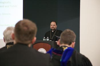 Bishop Nicholas offers the Schmemann Lecture at St. Vladimir's Seminary, Jan. 30, 2015